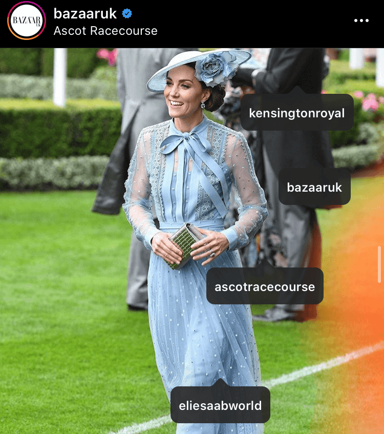 This gorgeous ensemble drew in huge amounts of likes on Vogue and Vanity Fair and features a dress from Elie Saab and hat from Philip Treacy. The garments pulled in 167,044 likes worth $70,158.48