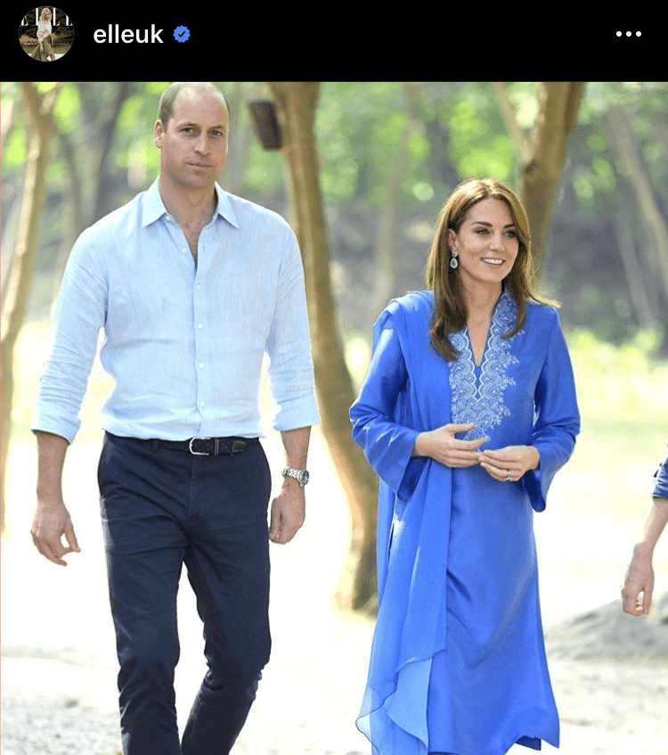 One of ElleUK's best images of the year shows Kate in traditional Pakistani dress by designer Maheen Khan. 24,956 likes worth $10,481.52